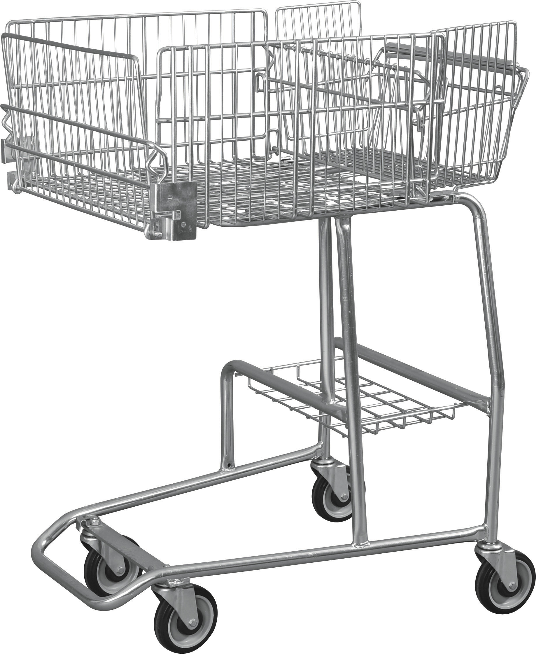 Low Carbon Steel Wire Basket Disabled Shopping Trolley For Old / Disability Persons
